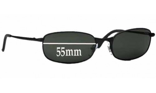 Ray Ban RB3162 Sleek 55MM Replacement Sunglass Lenses