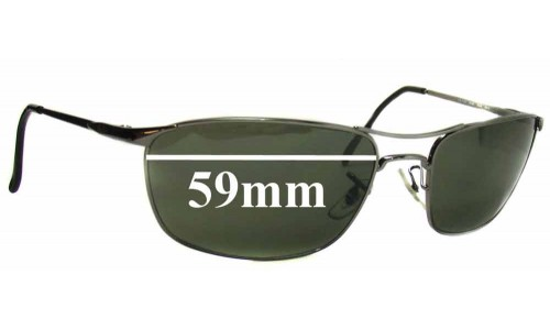 Sunglass Fix Replacement Lenses for Ray Ban RB3132 - 59mm wide