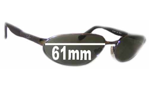 Sunglass Fix Replacement Lenses for Ray Ban Predator RB3252 - 61mm wide