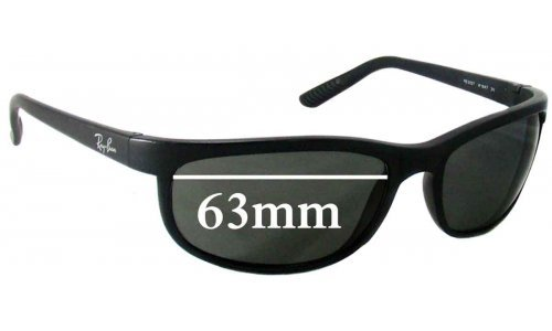 Ray Ban RB2027 Replacement Sunglass Lenses - 63mm Wide