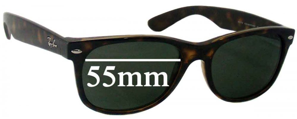 753f1952f78 Ray Ban RB2132 New Wayfarer Replacement Sunglass Lenses 55mm wide x 41mm  high