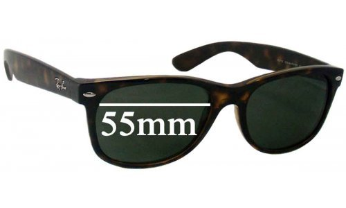 Sunglass Fix Replacement Lenses for Ray Ban RB2132 New Wayfarer 55mm wide x 41mm high