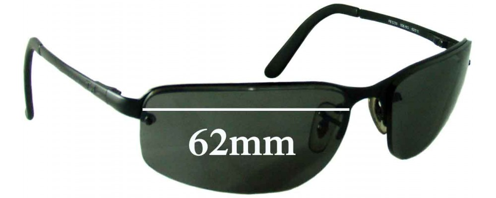 rb3239  Ban RB3239 Replacement Sunglass Lenses - 62mm wide