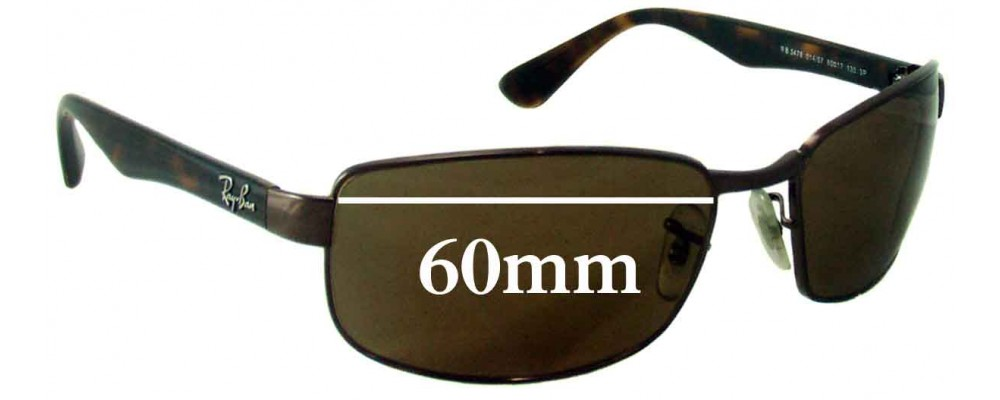 Ray Ban RB3478 Replacement Lenses - 60mm Wide   Sunglass Fix 894144fc80a1