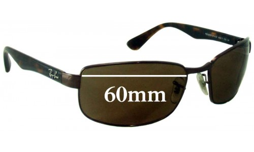 Ray Ban RB3478 Replacement Sunglass Lenses - 60mm Wide