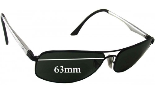 Sunglass Fix Replacement Lenses for Ray Ban RB3484 - 63mm wide lenses