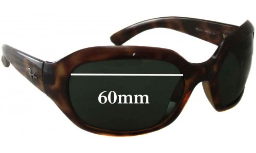 Ray Ban RB4062 Replacement Sunglass Lenses - 60mm Wide