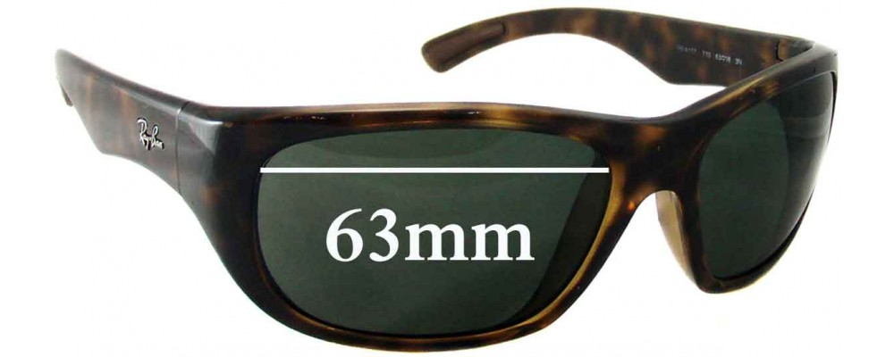 229201eba88 ... where to buy ray ban rb4177 replacement sunglass lenses 63mm wide 6e448  f2735