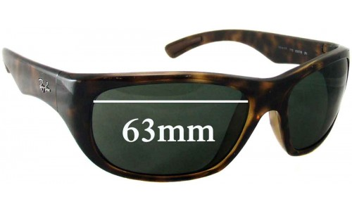 Ray Ban RB4177 Replacement Sunglass Lenses - 63mm Wide