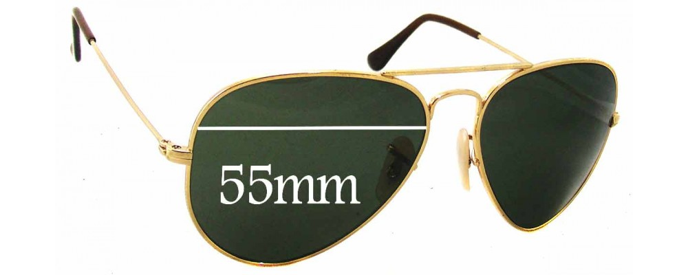 Ray Ban RB8041 Replacement Sunglass Lenses - 55mm Wide