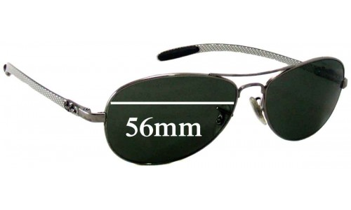 Ray Ban RB8301 Tech Replacement Sunglass Lenses 56mm Wide