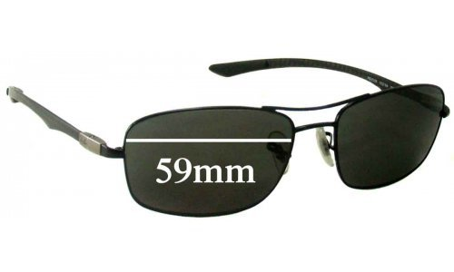 Ray Ban RB8309 Replacement Sunglass Lenses - 59mm wide