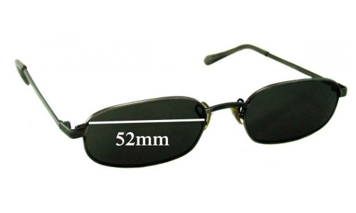 Sunglass Fix Replacement Lenses for Ray Ban Bausch Lomb Unknown Model - 52mm Wide