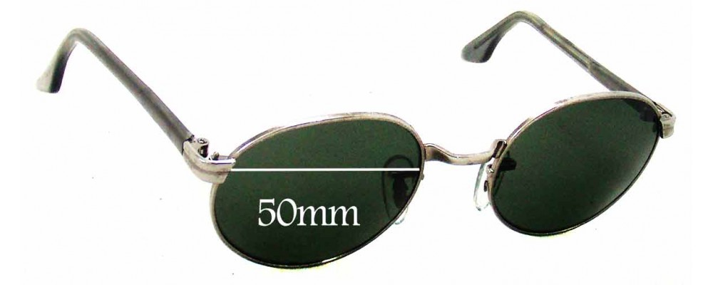 Sunglass Fix Replacement Lenses for Ray Ban W2187 Bausch Lomb - 50mm Wide