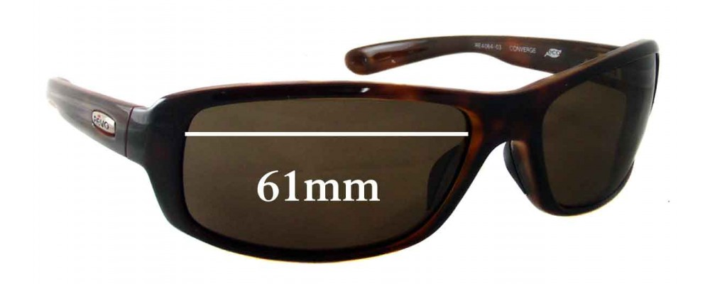 Revo Sunglasses Repair  re4064 converge replacement sunglass lenses 61mm wide
