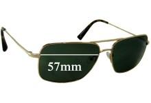 Salt Lester Replacement Sunglass Lenses - 57mm wide