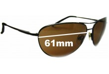 Sunglass Fix Replacement Lenses for Serengeti Napoli - 61mm Wide