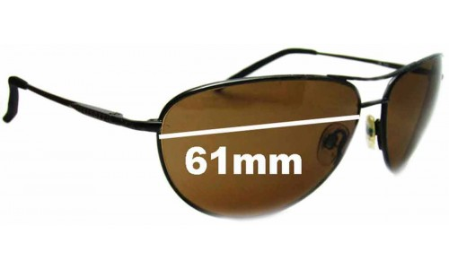 Serengeti Napoli New Sunglass Lenses - 61mm Wide