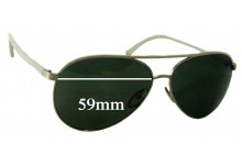 Tom Ford Silvano TF112 Replacement Sunglass Lenses - 59mm wide
