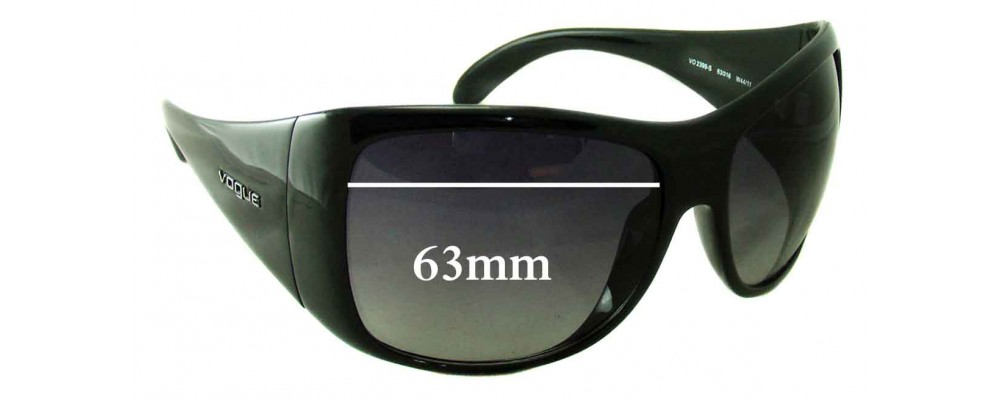 Vogue VO2399-S Replacement Sunglass Lenses - 63mm wide