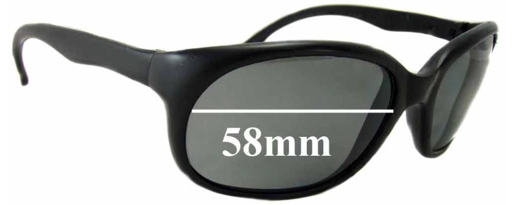 Vuarnet Pouilloux France Replacement Sunglass Lenses - 58mm wide 42mm tall