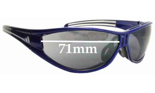 Adidas Evil Eye Pro-L Large Replacement Sunglass Lenses- 71mm wide Please measure as there are several models