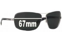 AN3045 Arnette Lock Up Replacement Sunglass Lenses - 67mm Wide