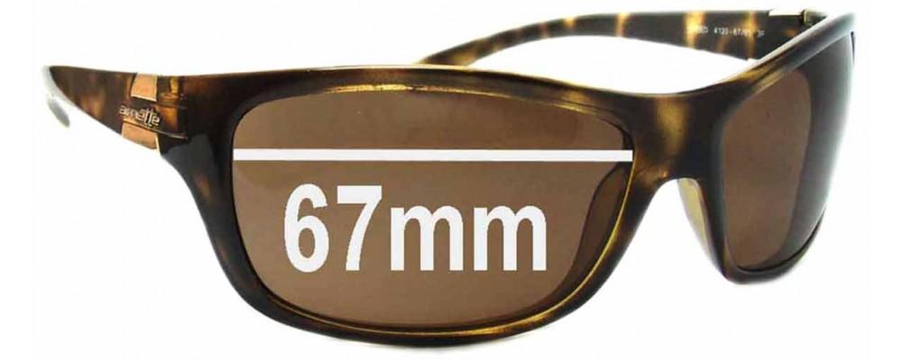 Arnette Speed AN4120 Replacement Sunglass Lenses - 67mm wide