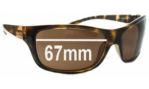 Arnette Speed AN4120 Replacement Sunglass Lenses - 67mm wide