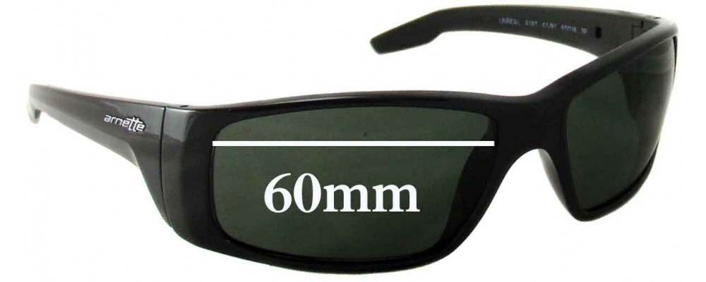 Arnette Unreal AN4187 Replacement Sunglass Lenses - 60mm Wide