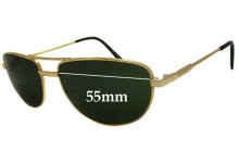 Arnette Older Metal Frame Aviator Style Replacement Sunglass Lenses - 55mm wide 39mm high