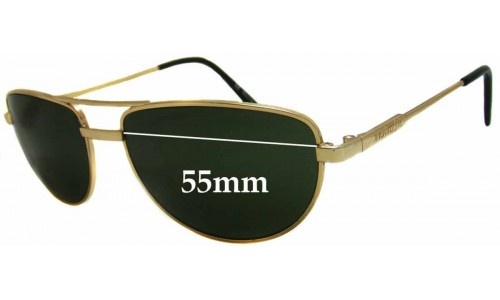 Arnette Older Metal Frame Aviator Style Sunglass Replacement Lenses - 55mm wide 39mm high