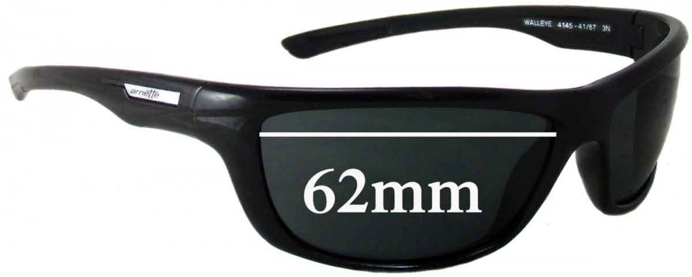 Arnette Walleye AN4145 Replacement Sunglass Lenses - 62mm Wide