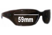 Sunglass Fix New Replacement Lenses for Blinde HILLKILL - 59mm Wide