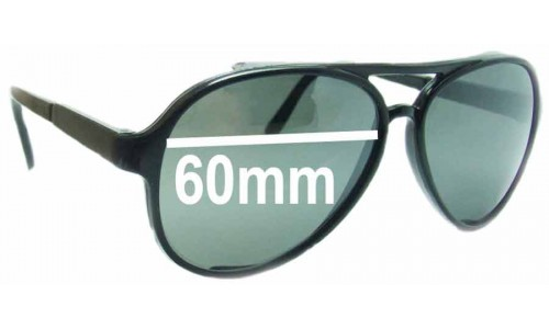 Bolle 8221 Replacement Sunglass Lenses - 60mm Wide