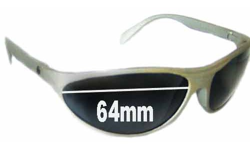 Bolle Anaconda Older Style Egg Shapped Replacement Sunglass Lenses - 64mm Wide