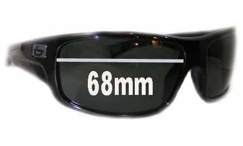 Bolle Barracuda Replacement Sunglass Lenses 68mm wide