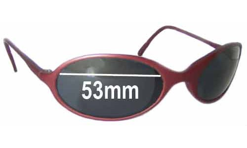 Bolle Naja Replacement Sunglass Lenses - 53mm wide oval shaped