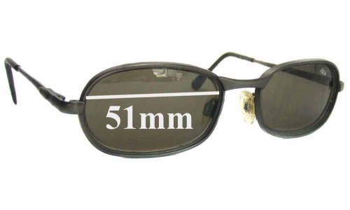 Bolle Polonium Replacement Sunglass Lenses - 51mm Wide Lenses
