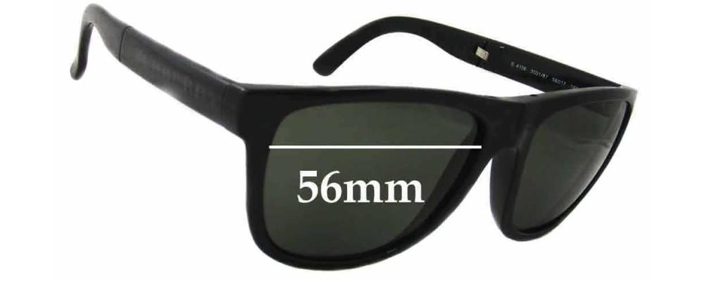 eba3cd9895 Burberry B 4106 Folding Wayfarer Replacement Sunglass Lenses - 56mm Wide