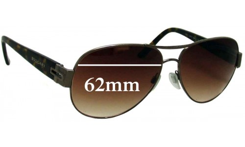 Bvlgari 5015 Replacement Sunglass Lenses 62mm wide