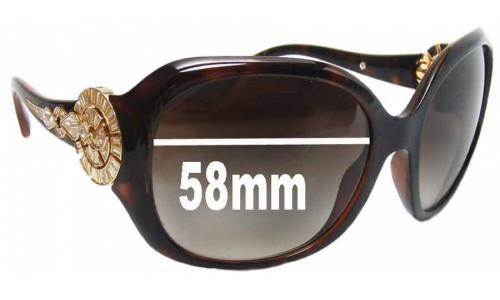 Bvlgari 8056-B Replacement Sunglass Lenses - 58mm wide