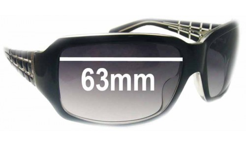 Calvin Klein 826S Replacement Sunglass Lenses - 63mm wide