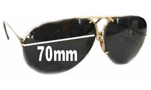 Sunglass Fix Replacement Lenses for Carrera Porsche Design SHTS6482 - 70mm Wide