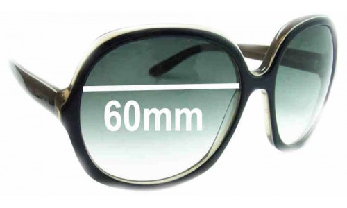 Carrera Hippy 1 Replacement Sunglass Lenses - 60mm wide