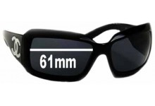 Chanel 5076-H Replacement Sunglass Lenses - 61mm wide