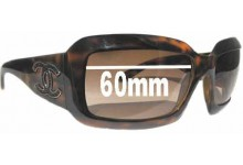 Chanel 6022-Q Replacement Sunglass Lenses 60mm wide