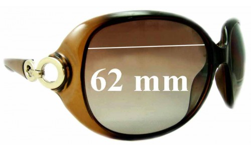 Christian Dior Lady 1 Replacement Sunglass Lenses - 62mm Wide