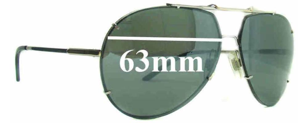 Dolce & Gabbana DG2075 Replacement Sunglass Lenses - 63mm Wide (Aviator Style)