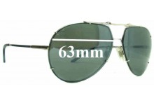 Dolce & Gabbana DG2075 Replacement Sunglass Lenses - 63mm Wide (Aviator Style)